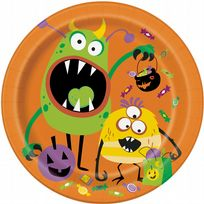 "Silly Halloween Monsters 9"" Paper Plates (8)"
